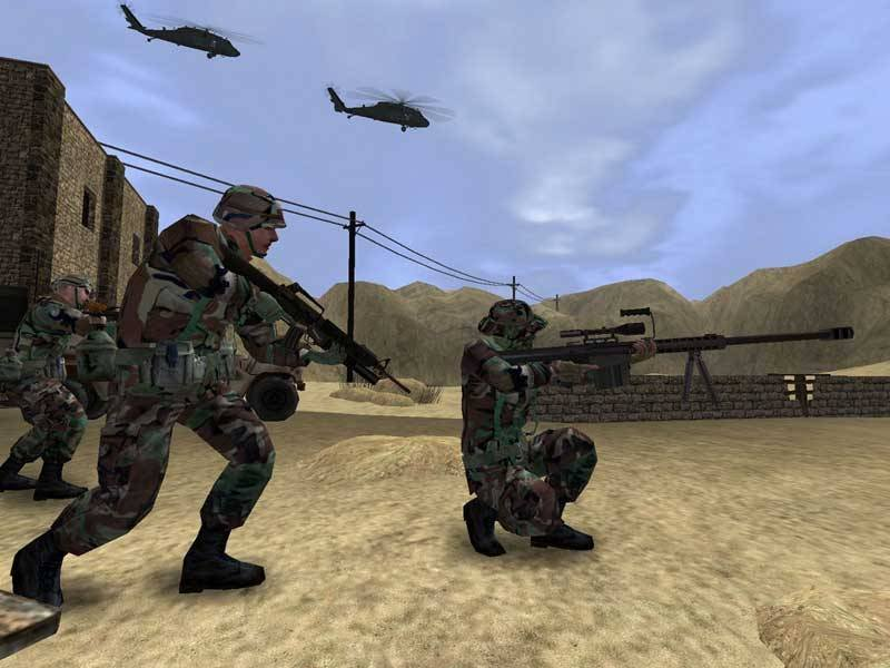Screenshot of the game the US army used for recruitment